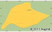 Savanna Style Simple Map of Passa Quatro, single color outside