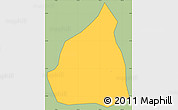 Savanna Style Simple Map of Passa Vinte, cropped outside
