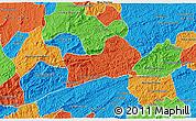 Political 3D Map of Rio Preto