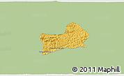 Savanna Style 3D Map of Rio Preto, single color outside
