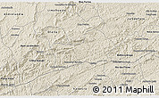 Shaded Relief 3D Map of Rio Preto
