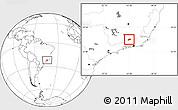 Blank Location Map of Rio Preto