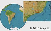 Satellite Location Map of Rio Preto