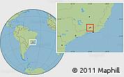 Savanna Style Location Map of Rio Preto