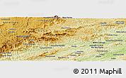 Physical Panoramic Map of Rio Preto