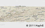 Shaded Relief Panoramic Map of Rio Preto