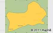 Savanna Style Simple Map of Rio Preto, cropped outside
