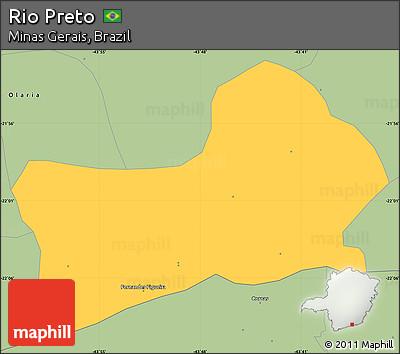 Savanna Style Simple Map of Rio Preto