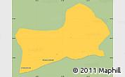 Savanna Style Simple Map of Rio Preto, single color outside