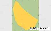 Savanna Style Simple Map of S.Jose do Alegr, single color outside