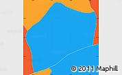 Political Simple Map of S.Rita D'jacuti