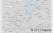 Silver Style 3D Map of Sao Sebastiao Do