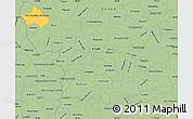 Savanna Style Simple Map of Sao Sebastiao Do