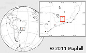 Blank Location Map of Seritinga