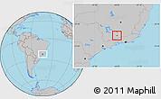 Gray Location Map of Seritinga