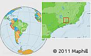 Political Location Map of Seritinga