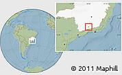Savanna Style Location Map of Seritinga, highlighted parent region, hill shading