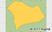 Savanna Style Simple Map of Serranos, cropped outside