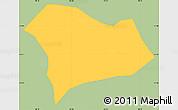 Savanna Style Simple Map of Serranos, single color outside