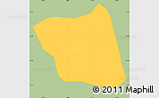 Savanna Style Simple Map of Soledade D'mina, single color outside