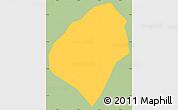 Savanna Style Simple Map of Virginia, single color outside