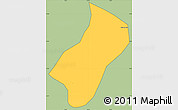 Savanna Style Simple Map of Wenceslau Braz, cropped outside