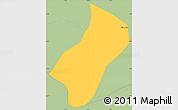 Savanna Style Simple Map of Wenceslau Braz