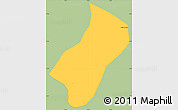 Savanna Style Simple Map of Wenceslau Braz, single color outside