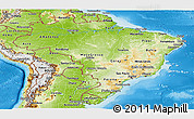 Physical Panoramic Map of Brazil