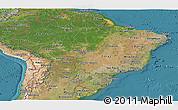 Satellite Panoramic Map of Brazil