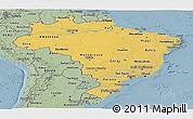 Savanna Style Panoramic Map of Brazil