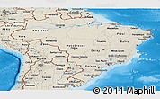 Shaded Relief Panoramic Map of Brazil