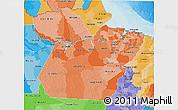 Political Shades 3D Map of Para