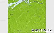 Physical Panoramic Map of Acara