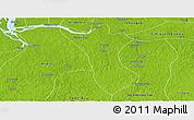 Physical Panoramic Map of Bujaru