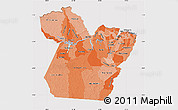 Political Shades Map of Para, cropped outside