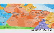 Political Shades Panoramic Map of Para