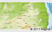 Physical 3D Map of Paraiba