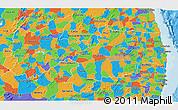 Political 3D Map of Paraiba