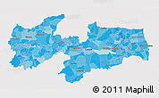 Political Shades 3D Map of Paraiba, cropped outside