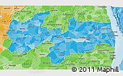 Political Shades 3D Map of Paraiba