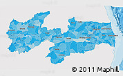 Political Shades 3D Map of Paraiba, single color outside