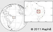 Blank Location Map of Agua Branca