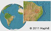 Satellite Location Map of Agua Branca