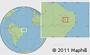 Savanna Style Location Map of Agua Branca