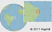 Savanna Style Location Map of Alagoa Grande
