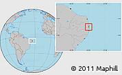 Gray Location Map of Alhandra