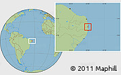 Savanna Style Location Map of Alhandra