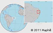 Gray Location Map of Aracagi