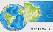 Physical Location Map of Aracagi